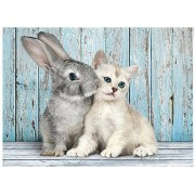 Puzzle Clementoni - Cat and Rabbit, 500 piese (52331)