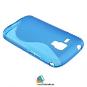 Husa Samsung S7562 Galaxy S Duos S7560 Trend S7580 Trend Plus Silicon Gel Tpu S-Line Albastra