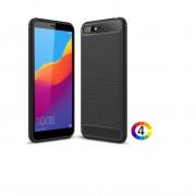 Huawei Y6 2018 / Honor 7A Удароустойчив Carbon Fiber Калъф и Протектор