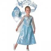 Детски карнавален костюм Elsa Frozen, 3 налични размера, Rubies, 610361