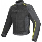 Dainese Hydra Flux D-Dry Jacket Black/Dark Gull Gray/Fluo Yellow 52