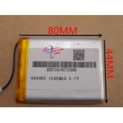 404480 - Acumulator Li-Polymer - 3,7 V - 1500mah - 80x44x4 mm