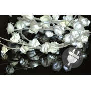 Dekoratívne LED osvetlenie – ruža – 48 LED, studená biela