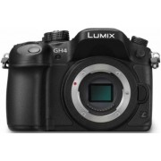 Aparat Foto Mirrorless Panasonic Lumix DMC-GH4RE-K, Body, 16 MP, Filmare 4K, Wi-Fi, NFC (Negru)