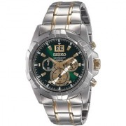 Seiko Round Dial Multicolor Stainless Steel Strap Analog Watch for Men - SPC186P1