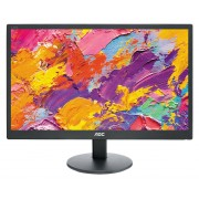 "AOC E970SWN - Monitor LED - 18.5"" - 1366 x 768 - 200 cd/m² - 5 ms - VGA - preto"
