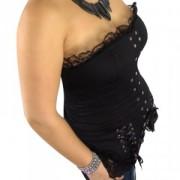 Bustier sexy dentelles et rubans, fermeture lacet façon corset