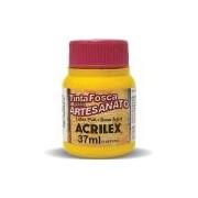 Tinta PVA Fosca para Artesanato Acrilex 37 ml Amarelo Ouro - 505