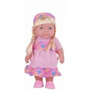 Emob Battery Operated Cute Baby Doll with Beautiful Hair and Different Speaking Sound Feature (Multicolor)
