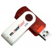 Moserbaer Swivel 2 GB Pen Drive(Dual Tone White & Red)