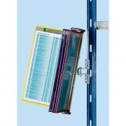 Certeo Klarsichttafel-Dokumentenhalter für Regal - 10 Klarsichttafeln DIN A4 - farbig sortiert