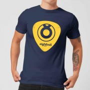 Ei8htball Yellow Plectrum LOGO Men's T-Shirt - Navy - S - Navy