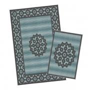 Korhani Malo Outdoorteppich-Set 160x213 cm + 80x112 cm Blau Mehrfarbig