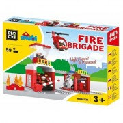 Joc constructie Statie Pompieri, 59 piese, Blocki mubi
