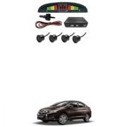 KunjZone Car Reverse Parking Sensor Black With LED Display Parking Sensor For Honda City i-Dtec