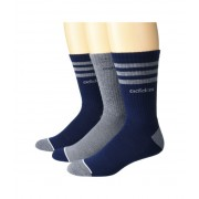 adidas 3-Stripe Crew Socks 3-Pack Collegiate NavyOnixLight Onix MarlWhiteLight Onix