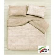 Lenzuolo Sopra Piano Matrimoniale Prodotto Italiano Cotone Di Percalle BON-BON-BEIGE