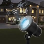 Karácsonyi kültéri LED projektor fényeffekt hópehely
