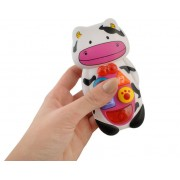 Telefon interactiv, educational pentru copii cu butoane care emit diverse melodii, forma Vacuta