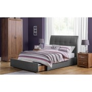 Santorini Fabric Bed With Storage Drawer - King Size