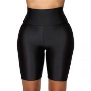 Watonic Leggings cortos para mujer, Gris, M