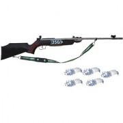 Prijam Air Gun Rifle 350 Model Brown Color Metal Body For Perfect Target Practice 500 Pellets Free