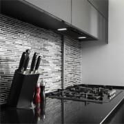 Klarstein HEKTOR SL, hotă de aburi, iluminare, filtru din aluminiu, timer, negru (TK15-HEKTOR-SL)
