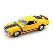 1970 Ford Mustang Boss 302, Yellow - Maisto Special Edition 31943 - 1/24 Scale Diecast Model Toy Car
