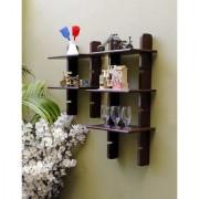 Onlineshoppee Escalera Wall Shelf 2 Pcs Brown