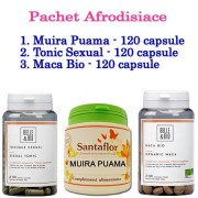 Pachet Afrodisiace: Tonic Sexual Maca Bio Muira Puama (120 capsule/fiecare)
