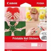 ORIGINAL Canon Carta Trasparente 3203C002 NL-101 ~0 Seiten 0ml Adesivi per unghie stampabili, 2 fogli, 12 adesivi per foglio