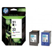 HP Pack 2 cartuchos tinta SD367AE: HP 21 negro + HP 22 tricolor