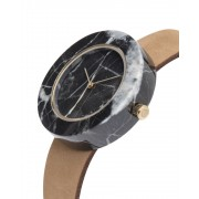Analog Watch Mason Circular Black Marble Body & Tan Strap Watch GT-BO