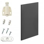 [en.casa]® Variabilní designový systém - dvířka - 27x42 cm - šedé