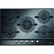 Plita incorporabila Franke Crystal FHCR 705 4G TC BK C , Gaz, 5 arzatoare, 72 cm, Sticla neagra