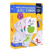 MiDeer Write and Wipe Off ABC Alphabet Words Kids Activity Writing Cards Games Learning Educational Toys for Children - Edu Toys