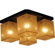 Plafoniera Basari Gold E14 max. 4x40W, wenge/auriu