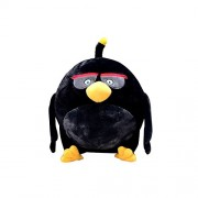 Angry Birds Plush Toy Stuffed Soft Toy Black Bird 17cm