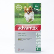 Advantix For Small Dogs Under 3.3lbs(4kg), 4 Pack