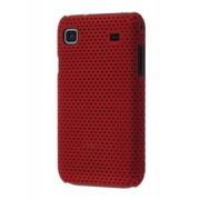 Slim Mesh Case for Samsung I9000 Galaxy S - Samsung Hard Case (Burgundy Red)