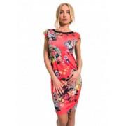 Еластична рокля с флорални мотиви