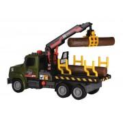 Camion de carat busteni cu macara 32 cm - Dickie Toys - Air Pump forester