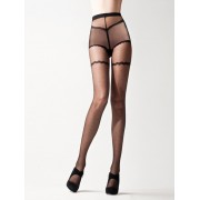 Cecilia de Rafael - Sensuous polka dot pattern tights 20 DEN black size L
