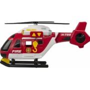 Elicopter de salvare care dispune de o lumina de cautare si de urgenta elice in miscare si sunete de elicopter
