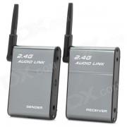 BX-501 Transmisor inalambrico inalambrico de 2?4 GHz + receptor - gris + negro
