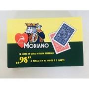 """MODIANO Carte Da Gioco """"98"""" 2 Mazzi - Ramino"""