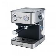 Espressor Samus Classico 20, Presiune 20 bari, 1.6 L, Duză abur pentru cappuccino, Filtru inox, Indicator presiune pompa, Plită preincalzire cesti, Negru/Inox