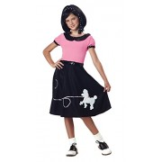 California Costumes 50s Hop with Poodle Skirt Child Costume, Large