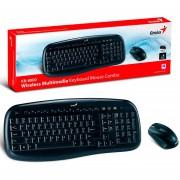 Teclado con Mouse inalambrico Genius KB-8000X-Negro