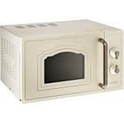 Cuptor cu microunde Gorenje MO4250CLI, 20L, 700 W, Grill 800W, 5 Trepte de Putere, Design Retro, Crem